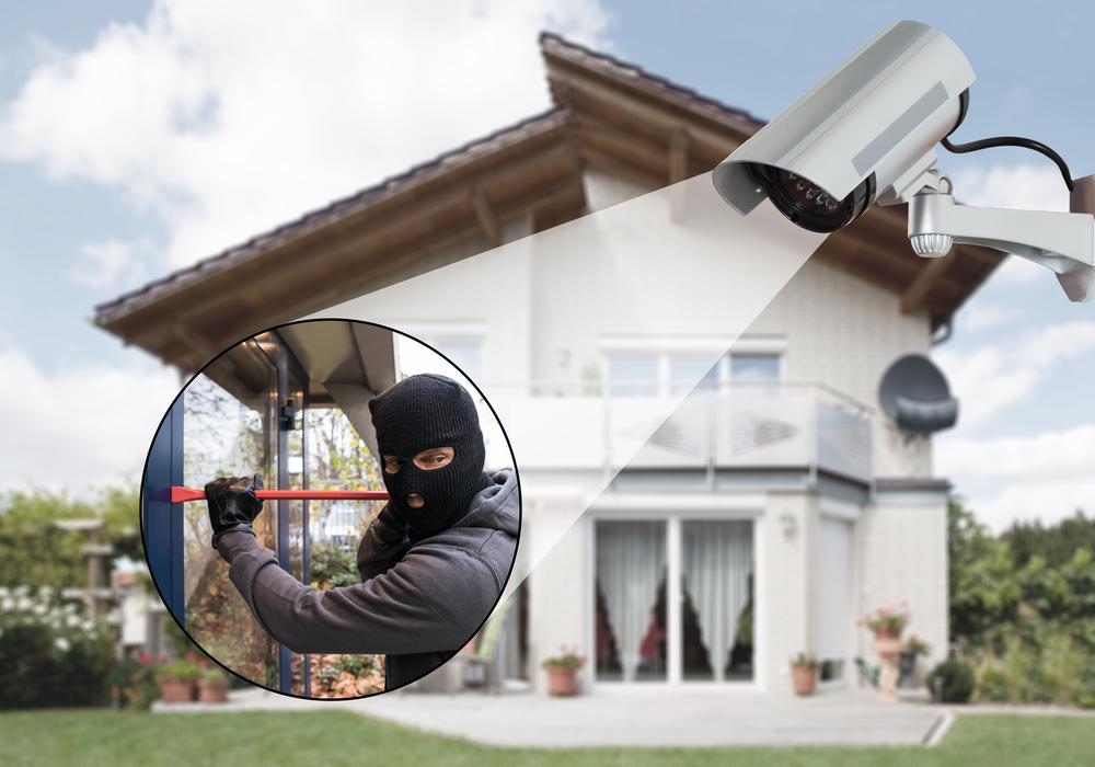 Haus mit Videoüberwachung