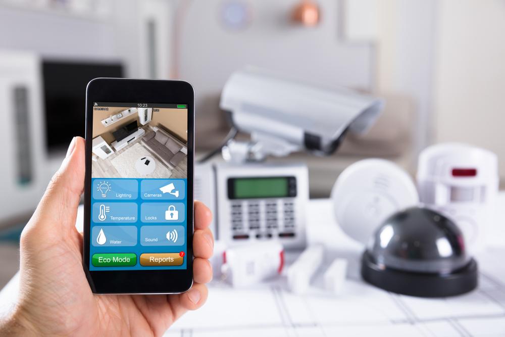 Einbruchmeldeanlage mit Videoüberwachung per Smartphone