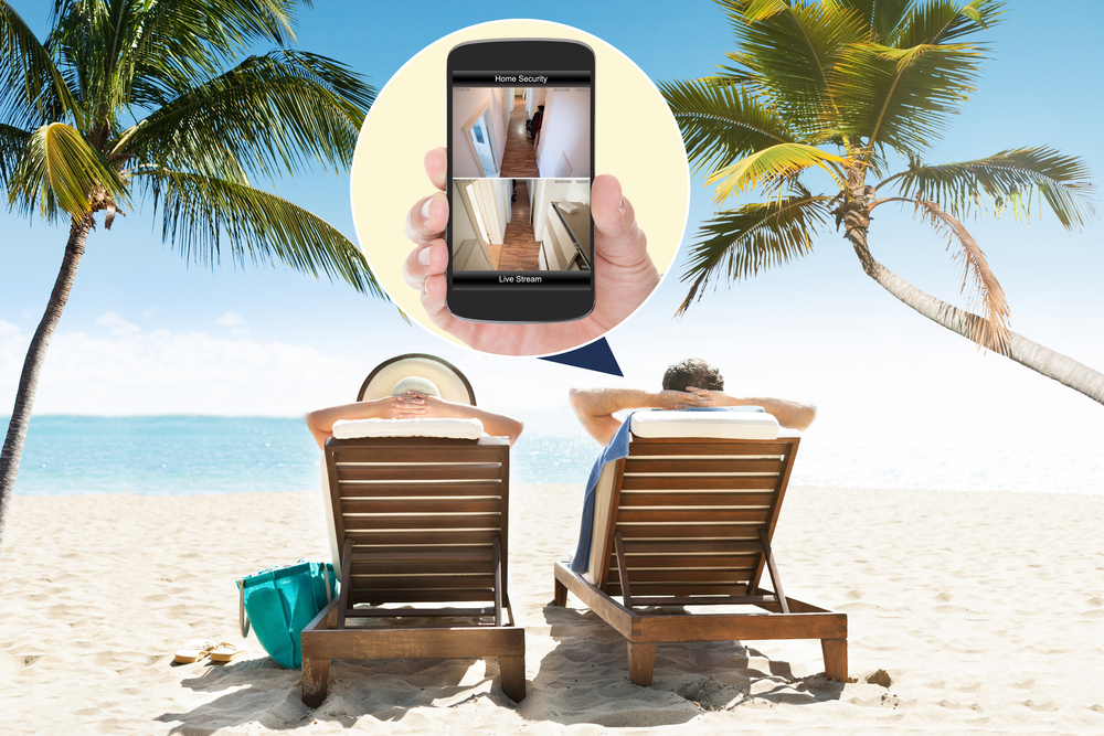 Überwachung des Hauses per smartphone