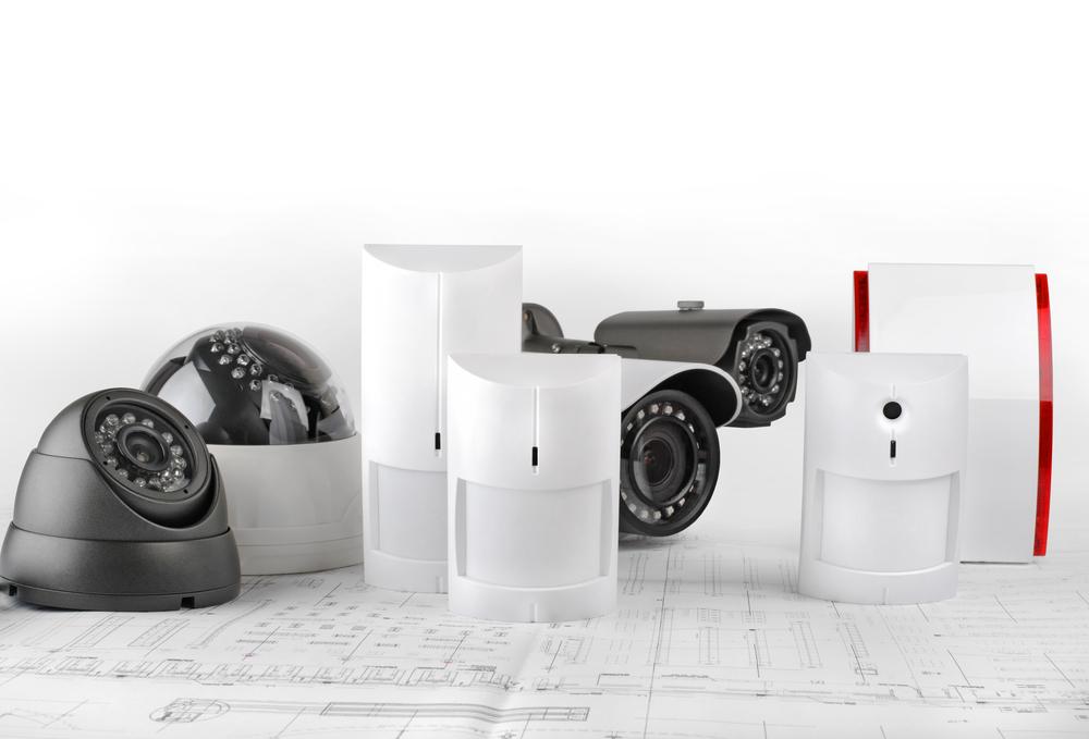 Alarmanlage mit Überwachungskameras und Sensoren